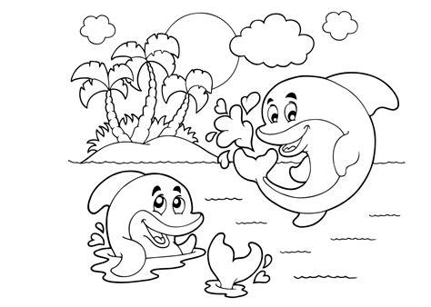 Dolfijnen In De Zee Kleurplaat by Dolfijn Kleurplaat 21 Mooiste Dolfijnen Kleurplaten Voor