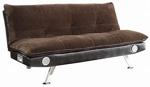 coaster sofa beds and futons 500047 sofa bed with built in With sofa bed with speakers