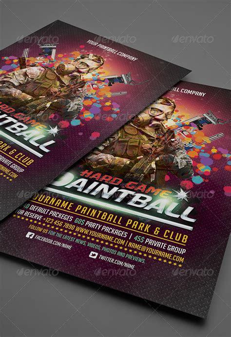 paintball flyerposter template  deerking graphicriver