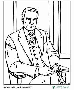 US Presidents Coloring Pages Gerald Ford