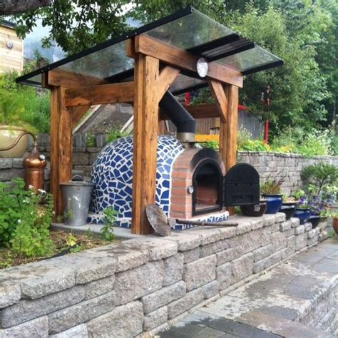 insulated wood pizza oven pergola water harvest