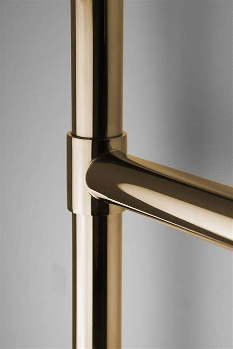 towel gold brass chunky round radiator heated warmers polished brushed radiators rail warmer rails bathrooms