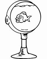 Coloring Bowl Fish Goldfish Sheet Cliparts Printactivities Clipart Stemware Champagne Library Clipartbest Az Fishbowl sketch template