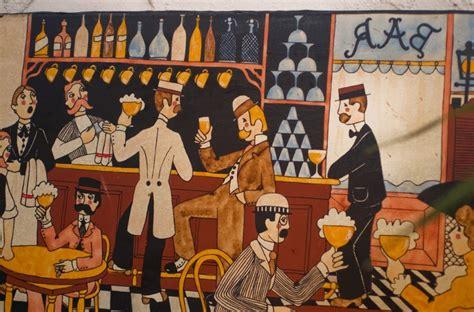 oil  canvas antic vintage retro painting montmartre