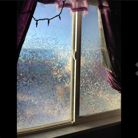 45 100cm 3d no glue static cling decorative frosted glass