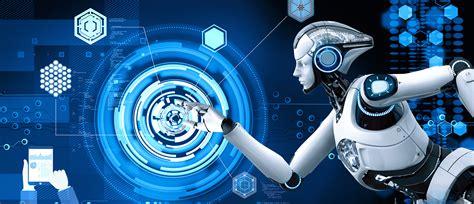 Robot Background Creative Technology Smart Robot Blue Background Creative