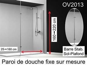 Parois De Douche Sur Mesure : paroi de douche longueur 25 paroi de douche fixe 25x195 ~ Dailycaller-alerts.com Idées de Décoration