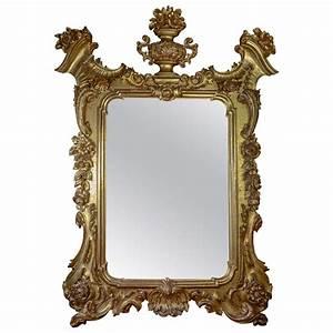 Grand Miroir Baroque : grand miroir baroque italien xix me si cle paul bert serpette ~ Teatrodelosmanantiales.com Idées de Décoration