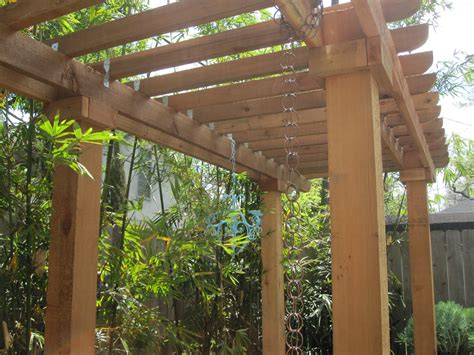 diy pergola joist designs   treasure chest
