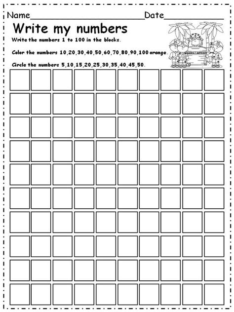 number worksheets 1 100 printable activity shelter