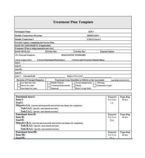 dental treatment plan template 35 treatment plan templates mental dental chiropractic more