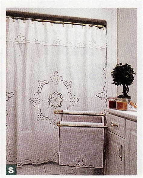 cutwork shower curtain the lace and linens co