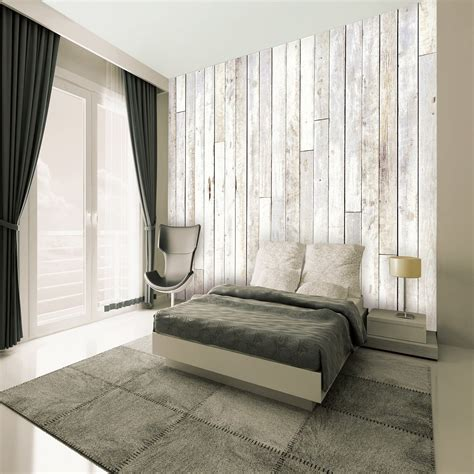 wall giant wallpaper mural wood panel boat house