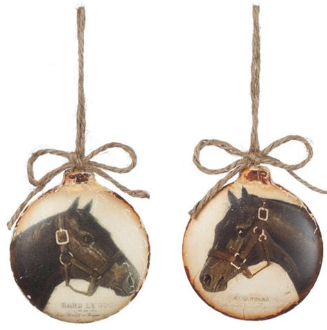 rustic christmas ornaments horse holiday ornament balls 4 quot rustic christmas ornaments atlanta by iron accents
