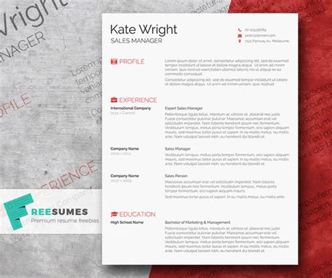 Design Resume Template Word by 12 Free And Impressive Cv Resume Templates In Ms Word