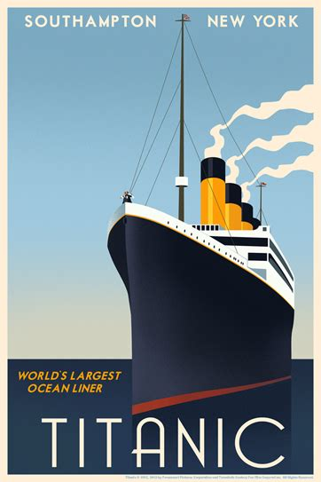 Titanic Boat Poster by Titanic Travel Poster By Steve Thomas Available At Acme Direct