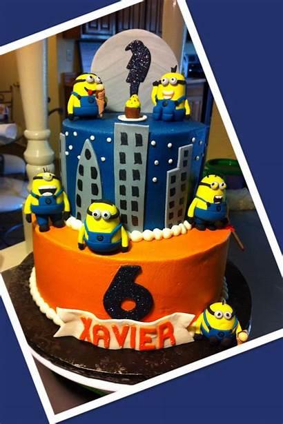 Birthday Despicable Cake Minions 6th Minion Xavier