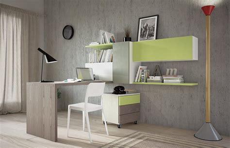libreria con scrivania integrata con letto e scaletta contenitore marzorati
