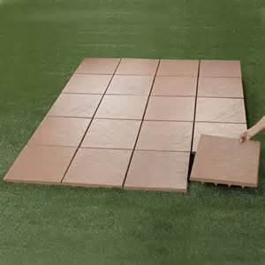 Recycled Rubber Decking by Create An Instant Patio On Any Grass Dirt Or Sand Surface