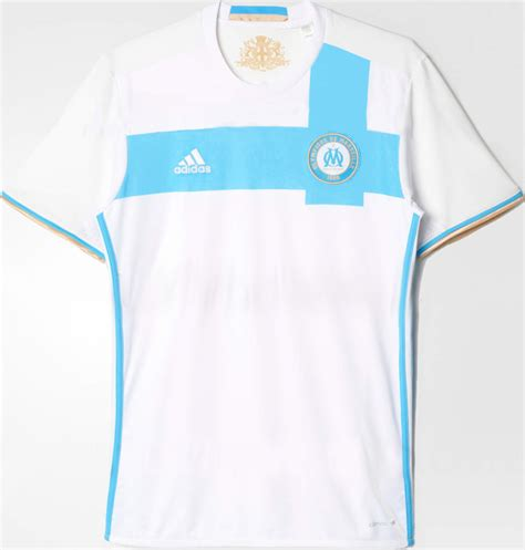 Maillot Domicile Officiel Blanc Olympique Marseille 2017 Maillots De Football