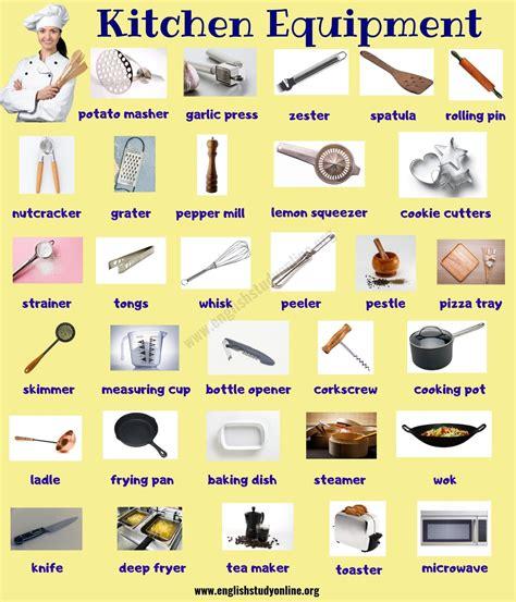 Kitchen Equipment Names by Kitchen Equipment Useful List Of 55 Kitchen Utensils
