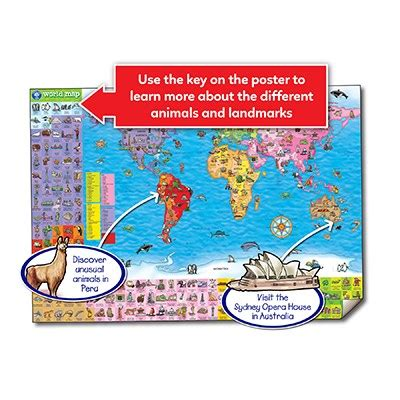 world map puzzle poster