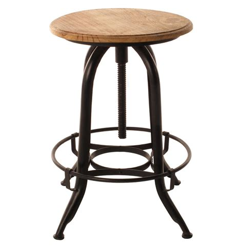 Swivel Stool by Architect S Industrial Wood Iron Counter Bar Swivel Stool