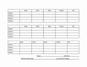 best photos of blank chore charts allowance kids chore With allowance chart template