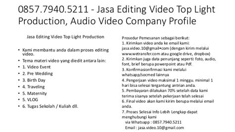 jasa editing video dokumentasi harga