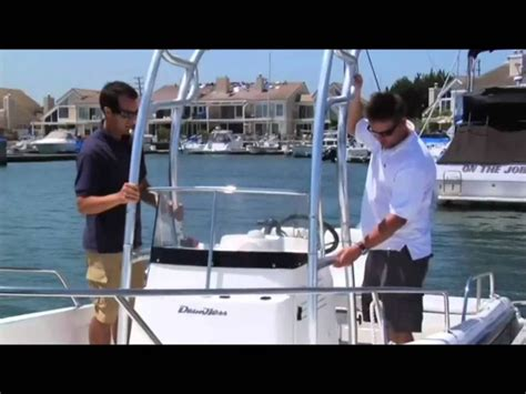 Folding T Top For Center Console Boats by How To Install A T Top Universal Folding T Tops For