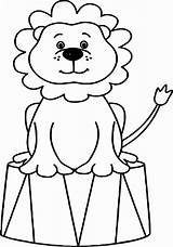 Clown Coloring Circus Animals Lion Printable Adults Sheets Animal Bubble Guppies Elephant Ringmaster Drawing Tent Adult Clipartmag Getdrawings Tents Getcolorings sketch template