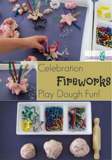 fireworks celebration play dough activity learning  kids