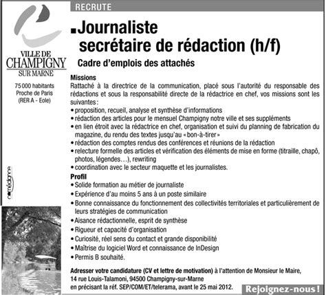 journaliste secr 233 taire de r 233 daction h f talents fr