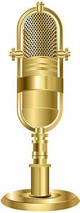 Studio Microphone Gold PNG Clip Art Image   Gallery ...