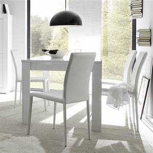 Table De Salle A Manger Design Laque Blanc Focus Zd1tab R