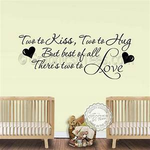 nursery wall sticker for twins baby boys girls bedroom With love wall decor