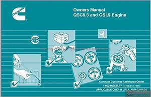 Cummins Qsc8 3 And Qsl9 Engine Owners Manual