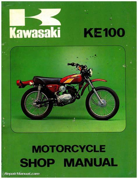 Kawasaki Motorcycle Service by 1971 1981 Kawasaki G5 Ke100 Motorcycle Service Manual