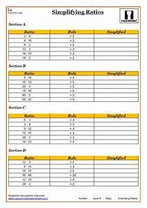Mathematical Ratio Worksheets