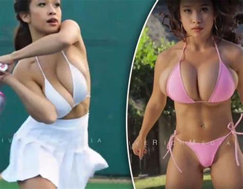 stunning model tennis playing sensation elizabeth anne