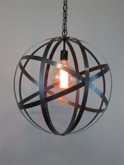 industrial wine barrel ring chandelier 18 orb by