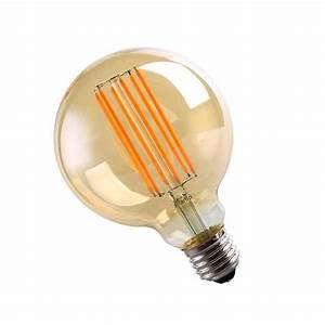 Ampoule Led 220v : ampoule led e27 cob filament g95 6w 220v 360 globe fum ~ Edinachiropracticcenter.com Idées de Décoration
