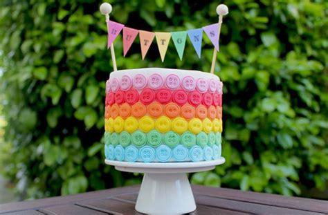 Cake Decorations Uk by Rainbow Button Cake Decorations Goodtoknow