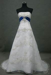 Dress with royal blue accents wedding dress ideas for Wedding dresses with royal blue accents