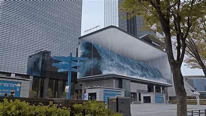 Aquarium Wave Seoul Anamorphic Illusion Massive Enormous