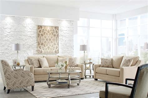 Living Room Settee Furniture by Mauricio Linen Contemporary Sofa And Loveseat Living