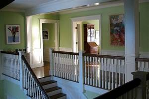Two story foyer/second floor hallway - Transitional - Hall