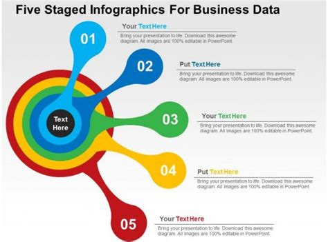 staged infographics  business data flat powerpoint