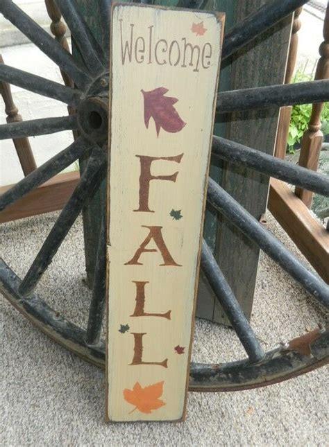 primitive fall autumn signleaveswelcome fallvertical