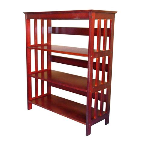 Cherry Bookcase by Cherry Open Bookcase R5416 Ch The Home Depot
